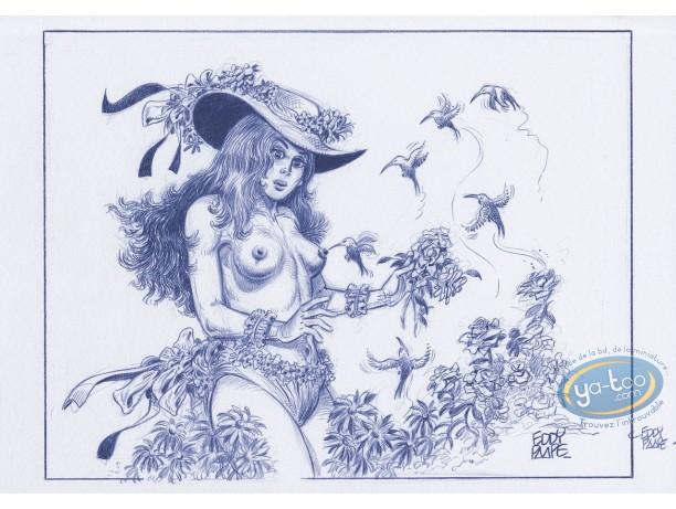 Affiche Offset, Luc Orient : Laura fleurs
