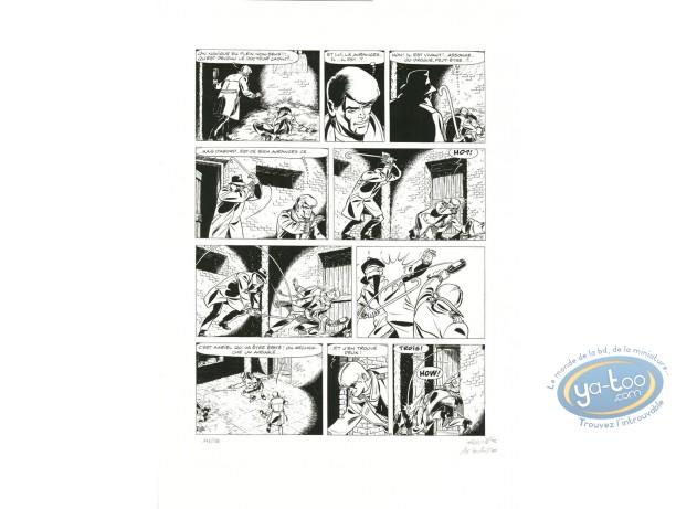 Affiche Sérigraphie, Ric Hochet : Planche