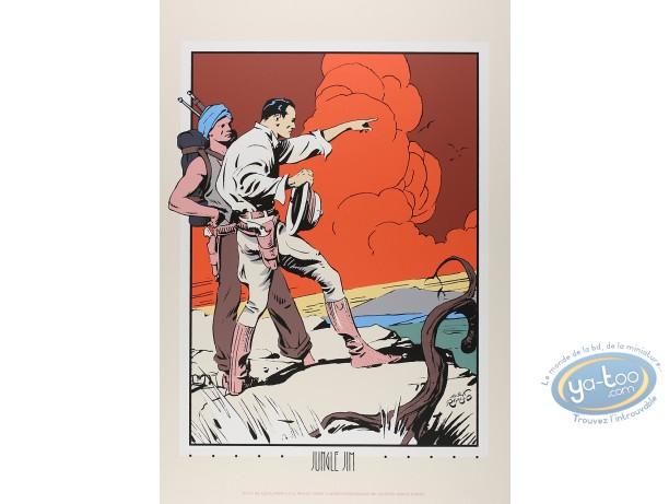 Affiche Sérigraphie, Jungle Jim : Jungle Jim en haut de la montagne