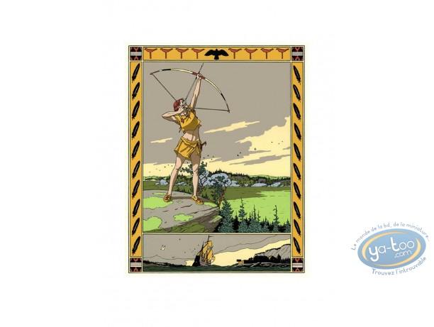 Affiche Sérigraphie, Plume aux Vents : Tir à l'arc