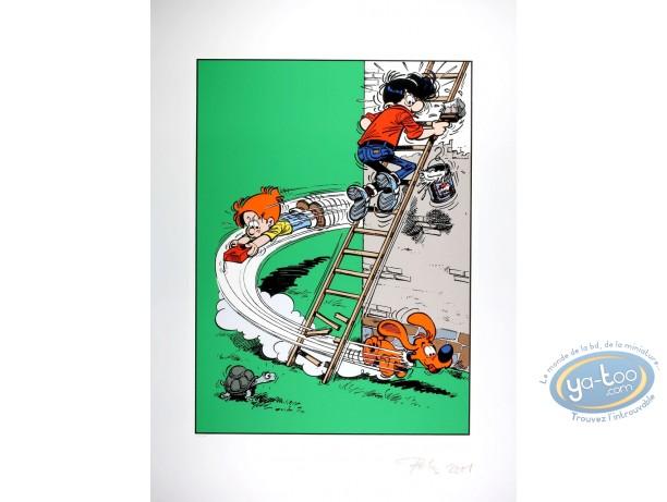 Affiche Sérigraphie, Boule et Bill : 22 ! V'là Boule et Bill