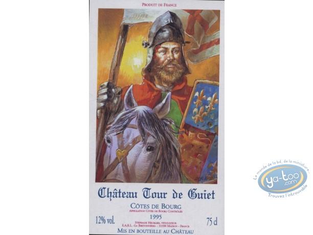 Etiquette de Vin, Chevalier - Chateau Tour de Guiet 1995