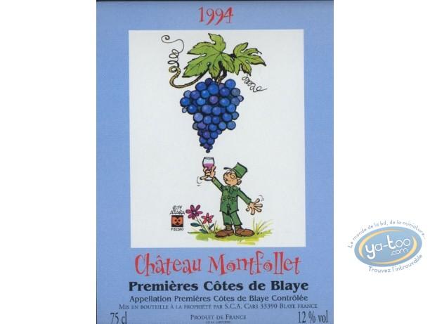 Etiquette de Vin, Taka Takata : Taka Takata - Chateau Montfollet 1994