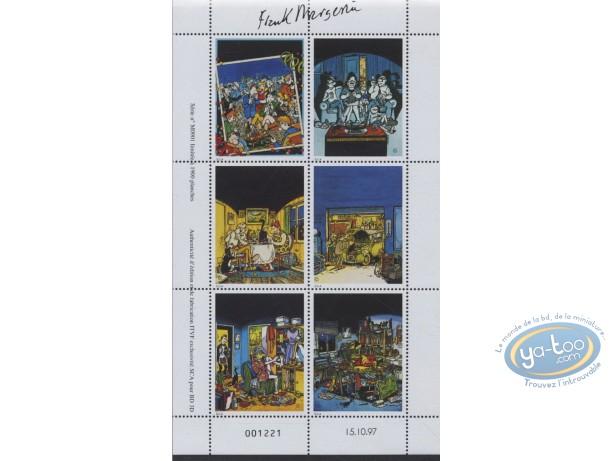 Timbre, Lucien : Planche de 6 timbres, Lucien
