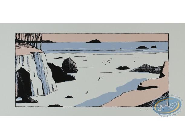 Affiche Sérigraphie, Avril : Marée basse