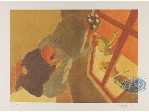 Affiche Offset, Par la fenêtre