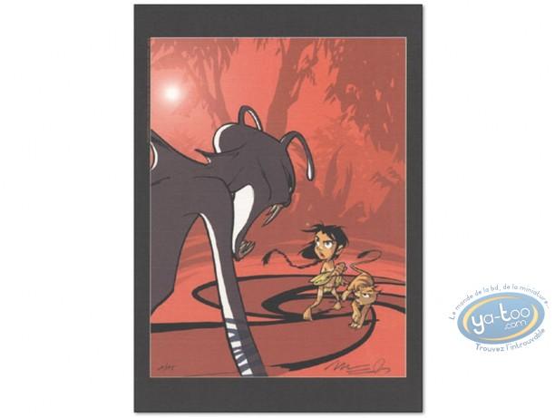 Ex-libris Offset, Navis : Face au monstre (ABD, rouge)