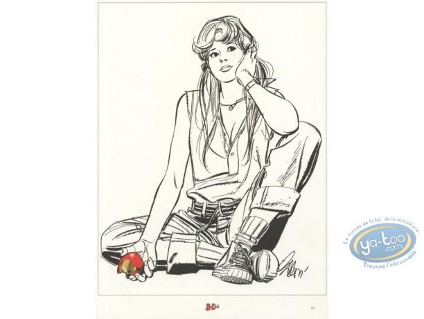 Ex-libris Offset, Survivante (La) : Pomme rouge