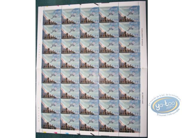 Timbre, Cités Obscures (Les) : Planche de 40 timbres naviguation spatiale, Schuiten