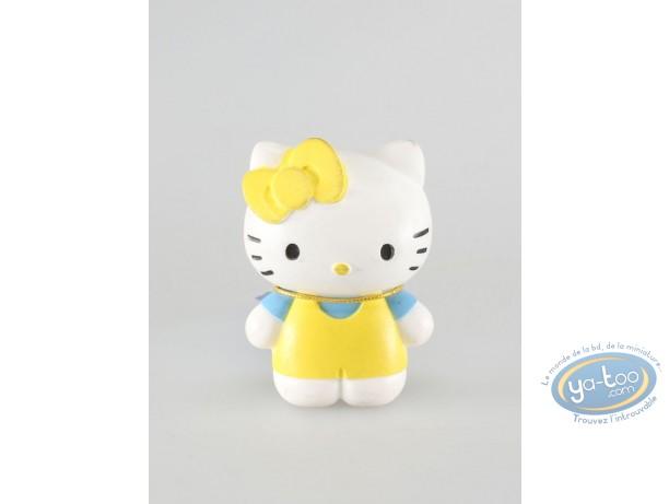 Figurine plastique, Hello Kitty : Hello Kitty salopette jaune