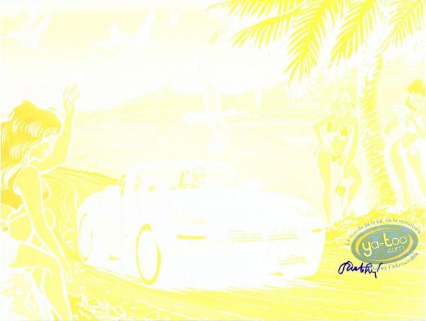 Affiche Offset, Pin-Up : Caroline Baldwin (jaune sans noir)