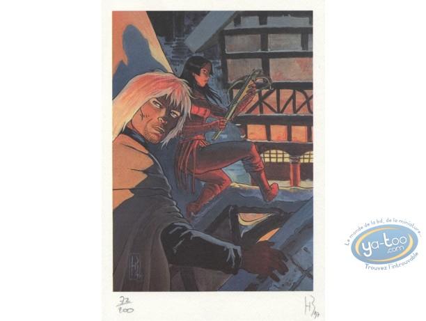 Ex-libris Offset, Crépuscule des Anges (Le) : Sur les toits