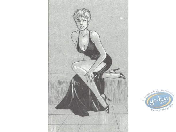 Ex-libris Offset, Jessica Blandy : Assise robe noire