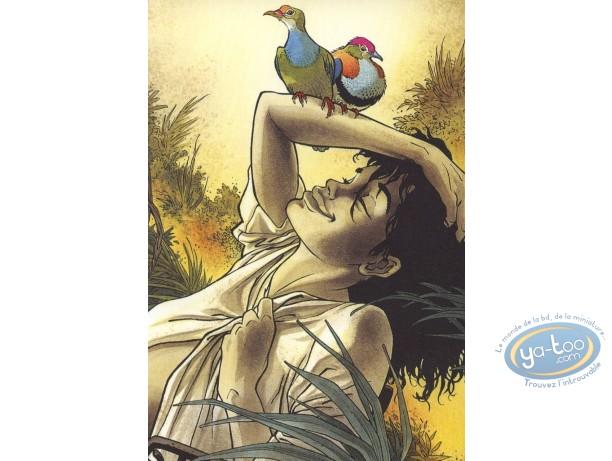 Carte postale, Pyramides : Fille heureuse dans la nature