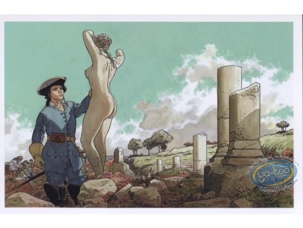 Carte postale, Rencontres : Officier - sculpteur