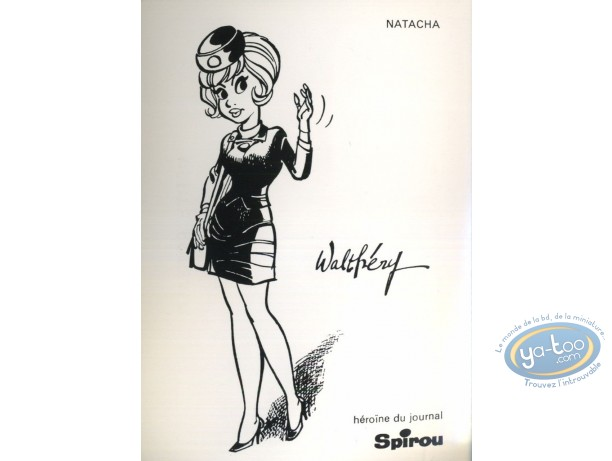 Carte postale, Natacha : Natacha - Héroïne du journal Spirou