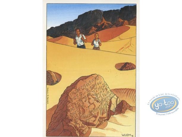 Carte postale, Cercle des sentinelles (Le) : Le lion ailé - Le cercle des sentinelles