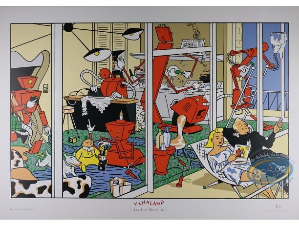 Affiche Offset, Chaland : Les Arts Ménagers