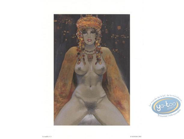 Affiche Offset, Manara : La modèle N°3, Manara