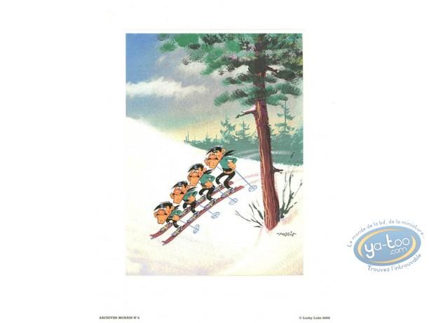 Affiche Offset, Lucky Luke : Archives N°2 : Les Dalton à Ski