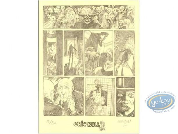 Ex-libris Offset, Carland Cross : Planche crayonnée