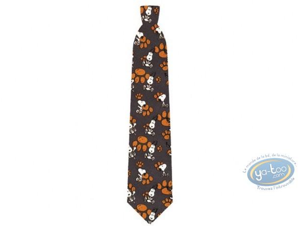 Vêtement, Snoopy : Cravate, Snoopy empreintes de pas grises