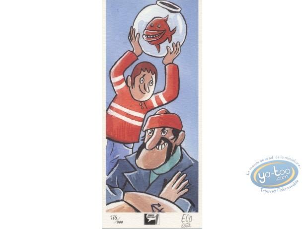 Ex-libris Offset, Tommy Egg : Poisson rouge
