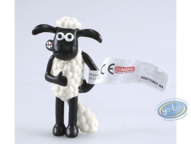 Figurine plastique, Wallace et Gromit : Shaun a mal au ventre - Shaun le mouton