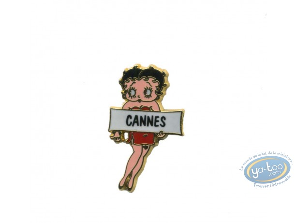 Pin's, Betty Boop : Betty auto stoppeuse 'Cannes'