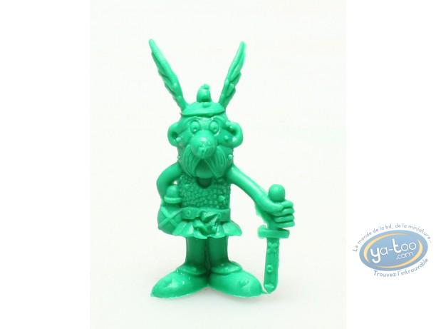 Figurine plastique, Astérix : Mini Astérix glaive en bas à la main (vert Foncé)