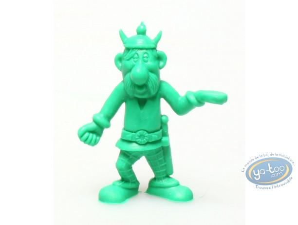 Figurine plastique, Astérix : Mini Porteur de pavois (casque avec cornes / vert foncé)
