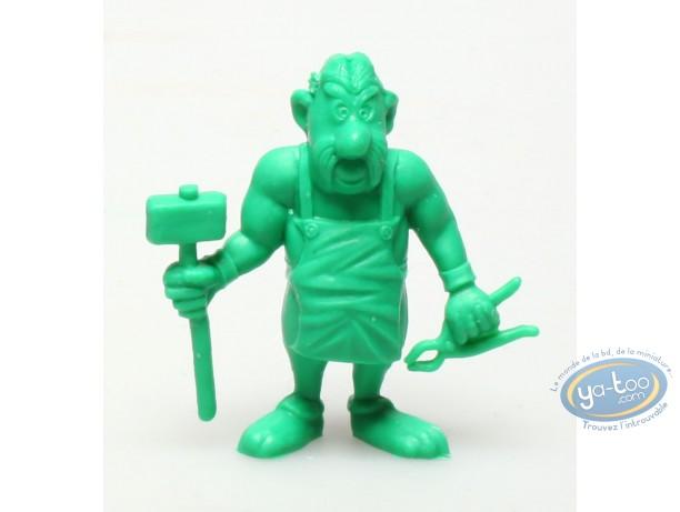 Figurine plastique, Astérix : Mini Cétautomatix avec marteau et pince (vert foncé)