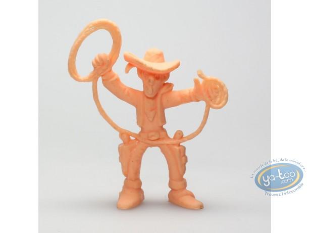 Figurine plastique, Lucky Luke : Lucky Luke lasso en l'air (orange)