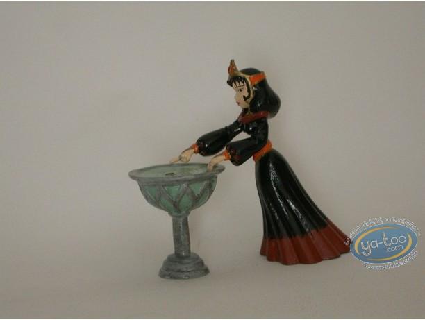 Figurine métal, Percevan : Balkis vasque
