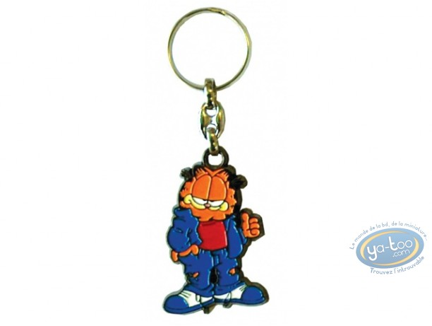 Porte-clé métal, Garfield : Garfield Jeans