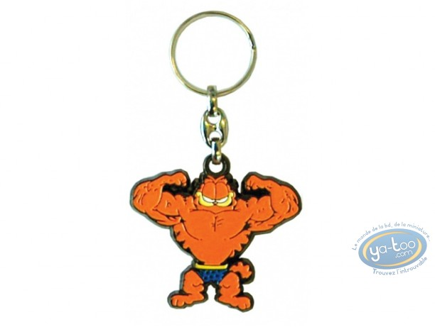 Porte-clé métal, Garfield : Garfield bodybuilding