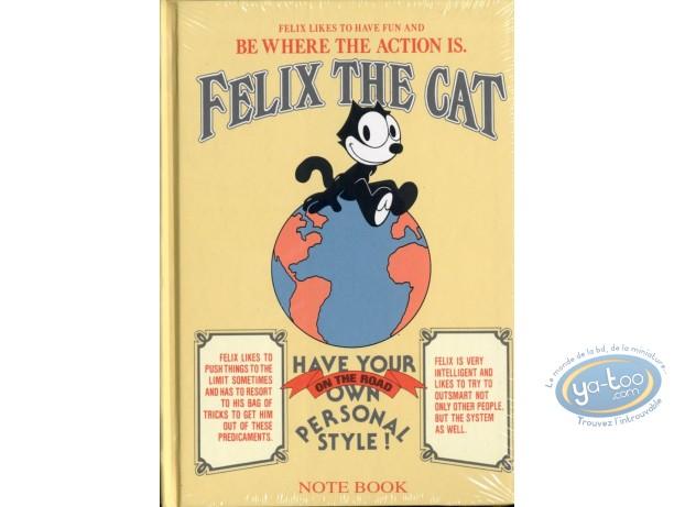 Carnet de notes, Félix le Chat : Note Book, Félix le Chat (Jaune)