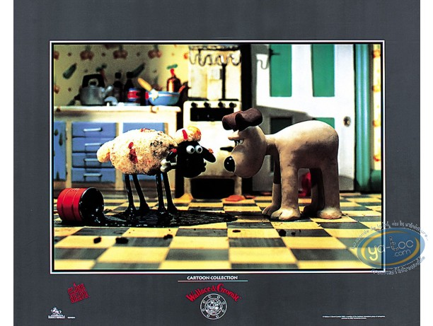 Affiche Offset, Wallace et Gromit : Gromit & Shaun