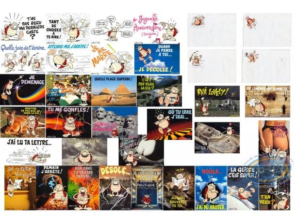 Carte postale, Coccinelle de Gotlib (La) : Lot de 32 cartes + 32 enveloppes