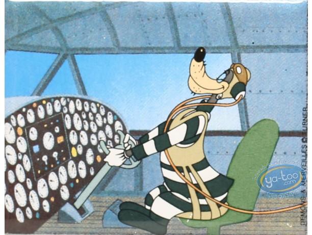 Magnet, Droopy : en métal, Le loup aviateur