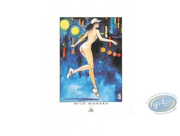 Affiche Offset, Déclic (Le) : Femme nue courant, Manara
