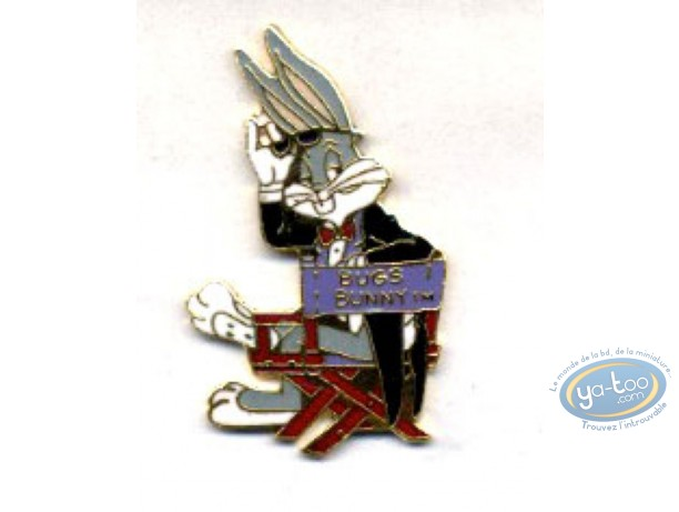 Pin's, Bugs Bunny : Bug Bunny sur sa chaise