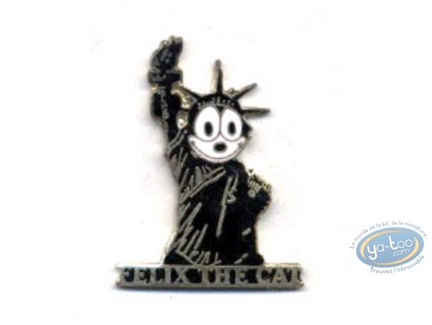Pin's, Félix le Chat : Felix le Chat, statue de la Liberté