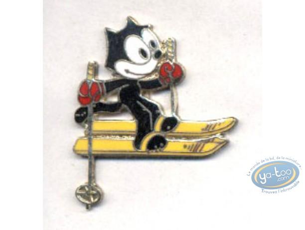 Pin's, Félix le Chat : Felix le Chat skie