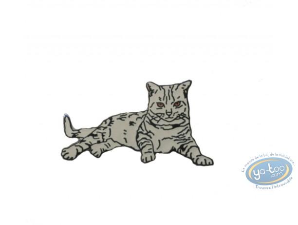 Pin's, Chat tigré gris couché