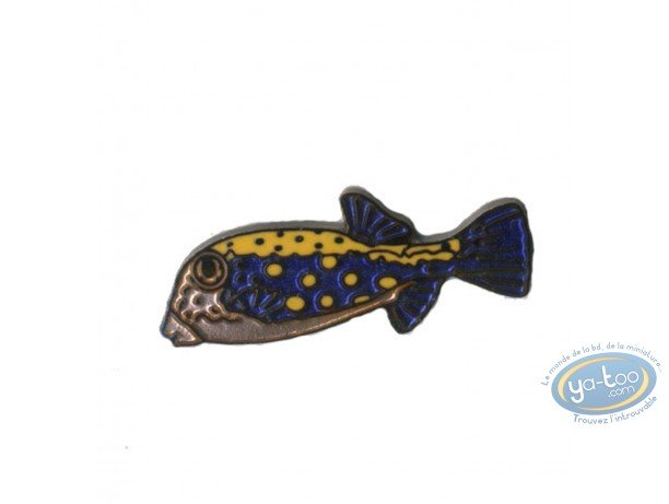 Pin's, Poisson bleu tâché orange