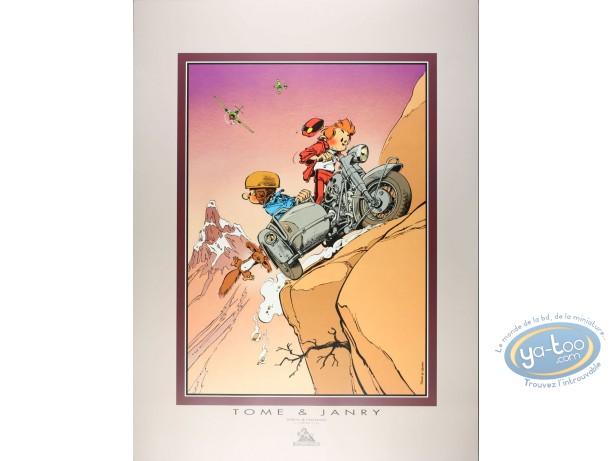 Affiche Offset, Spirou et Fantasio : Side-car