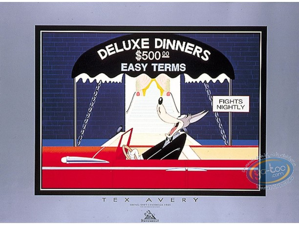 Affiche Offset, Droopy : Deluxe Dinners