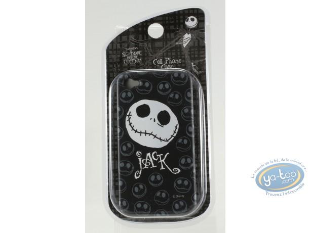 Accessoire GSM, Etrange Noël de Mr. Jack (L') : Coque Iphone 4G, Tête de Mr Jack - noir