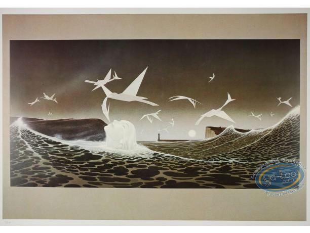 Affiche Offset, Oiseaux de papier